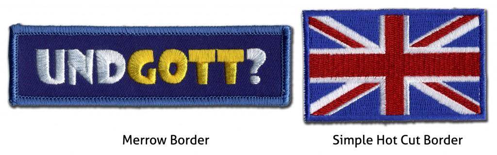 Compare merrow border and simple hot cut edge