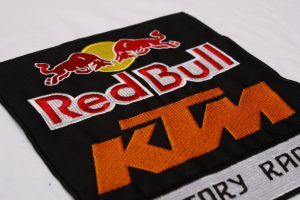 red bull ktm embroidered patch large