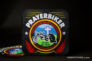 in god we trust christian biker community prayerbiker embroidered patches
