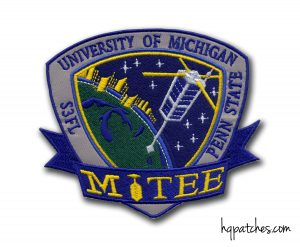 MiTEE cube sat mission has its own patch from HqPatches.com