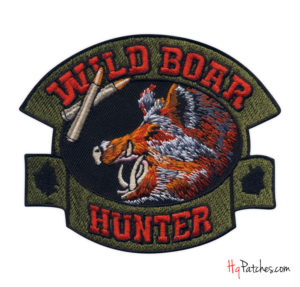 wild board hunter - custom shaped embroidered item from hqpatches